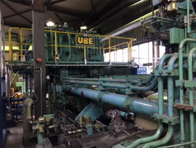 UBE 800T Aluminium Strangpresse PR2469, gebraucht
